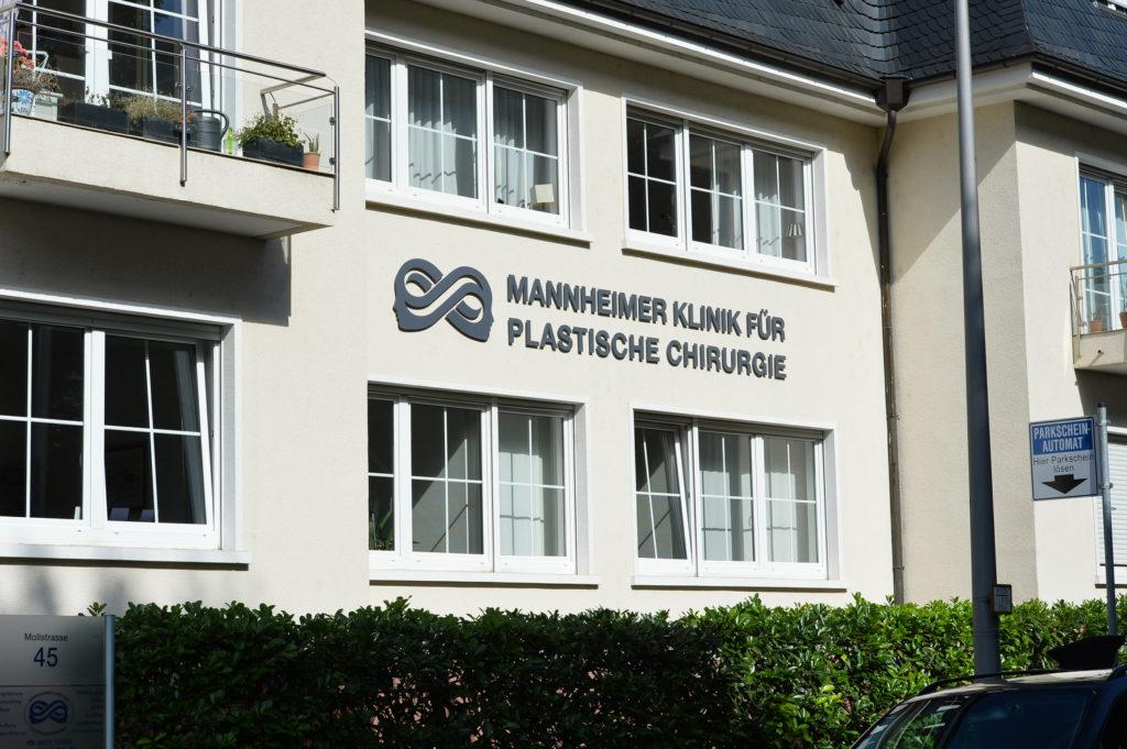 Außenansicht Mannheimer Klinik für Plastische Chirurgie